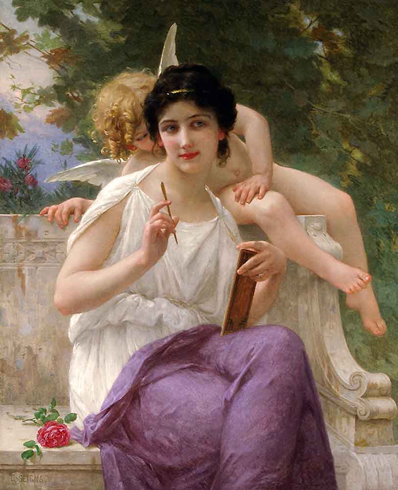 The Poetry Monster, illustration, the Muse by Guillaume Seignac, a sourcre of poems and the largest library of poetry works online